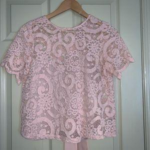 Nanette Lenore S Blush Lace Cropped Top